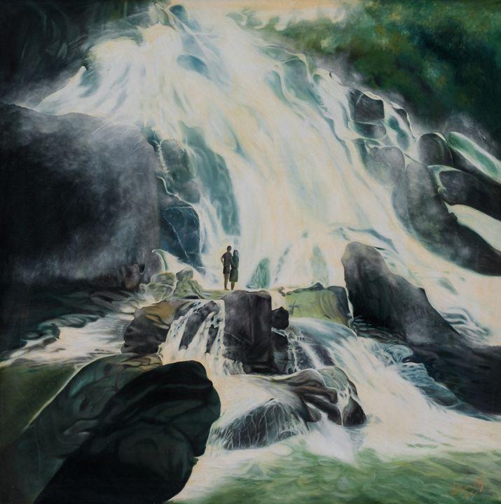 Buaya Sangkut waterfall 1995 - OS Ng