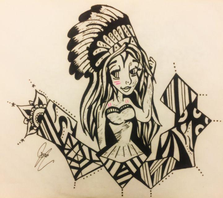 Native girl/blending - Art For Your Eyes