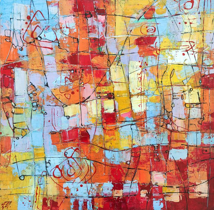 Abstract Painting #5 - Movses Petrosyan