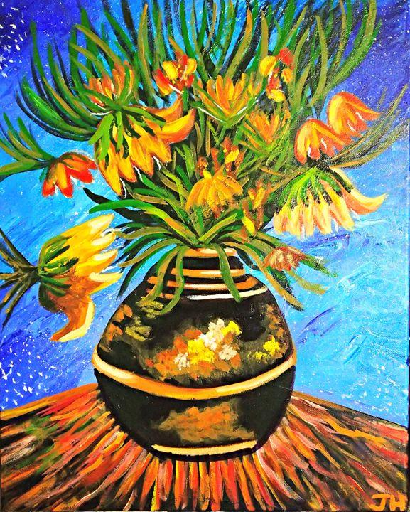 Van Gogh's Fritillaries in a Copper - BrilliantColorsbyJen