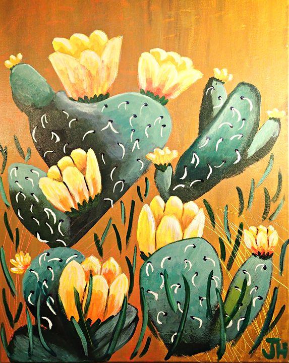 Prickly Pear Cactus - BrilliantColorsbyJen
