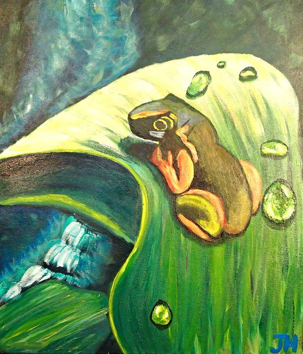 Froggie with Droplets - BrilliantColorsbyJen