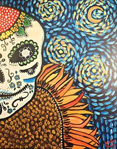 Van Gogh Sugar Skull