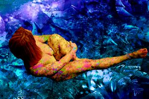 ANDROMEDA ON BLUE