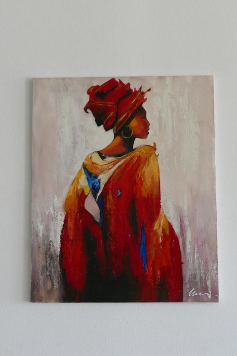 African woman acrylic painting - Filip Petrović