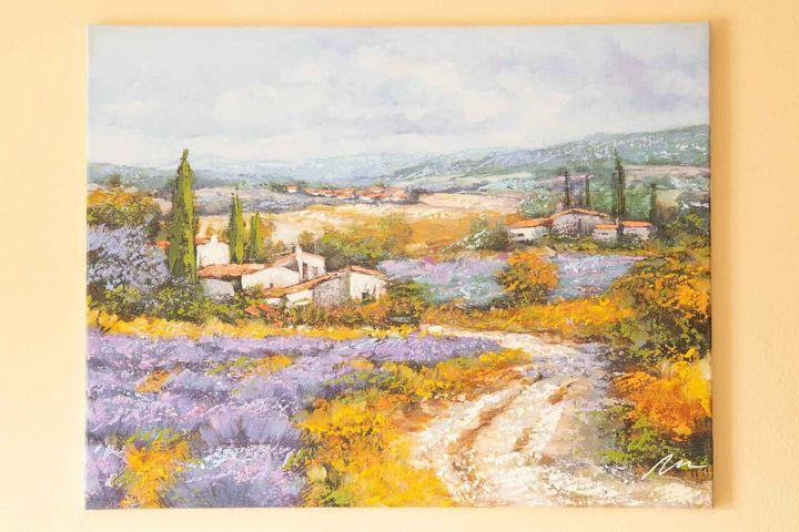 Lavender Fields acrylic painting - Filip Petrović