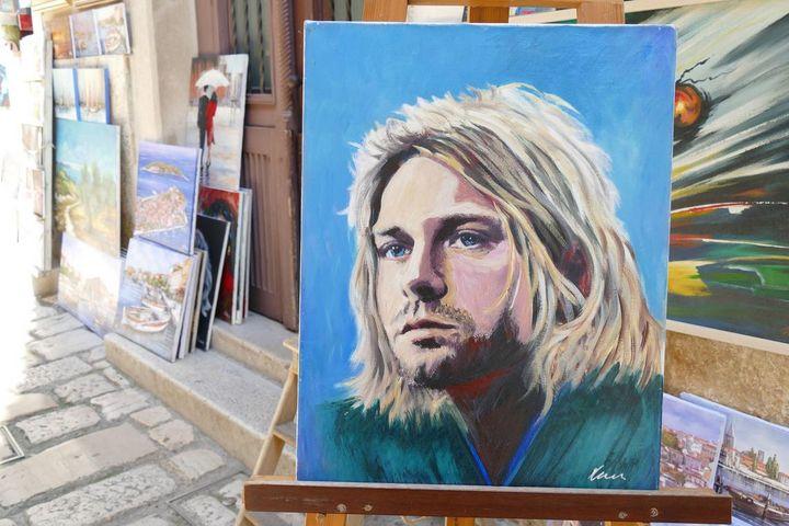 Kurt Cobain oil painting on canvas - Filip Petrović