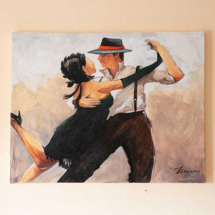 Couple Dancing Tango oil painting - Filip Petrović