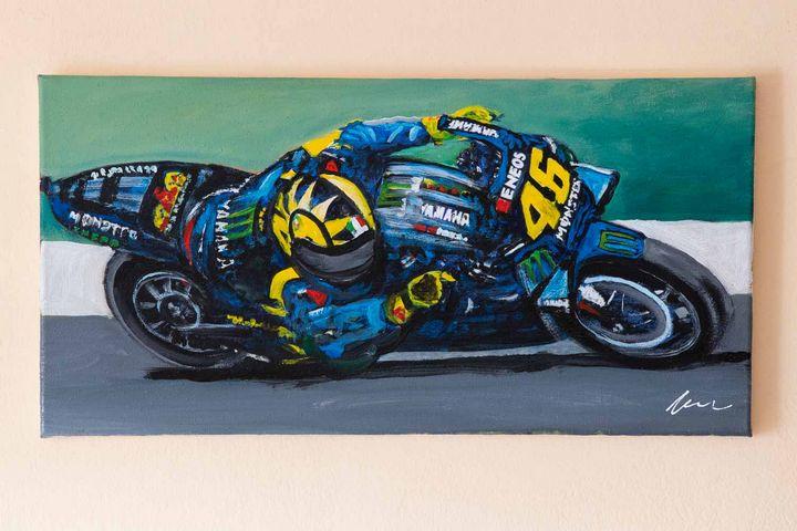 Valentino Rossi oil painting - Filip Petrović