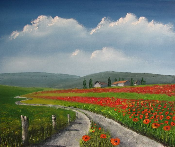 Poppy field - Marjan Malovrh paintings