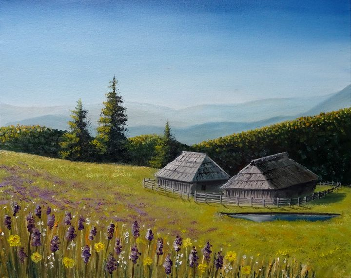 Velika planina - Marjan Malovrh paintings