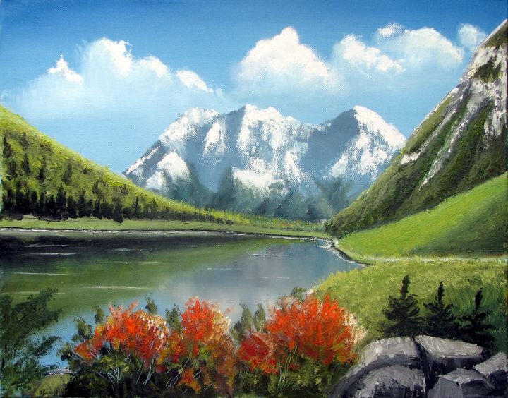 Mountain lake - Marjan Malovrh paintings