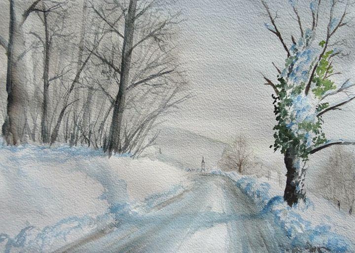 Winter - Marjan Malovrh paintings