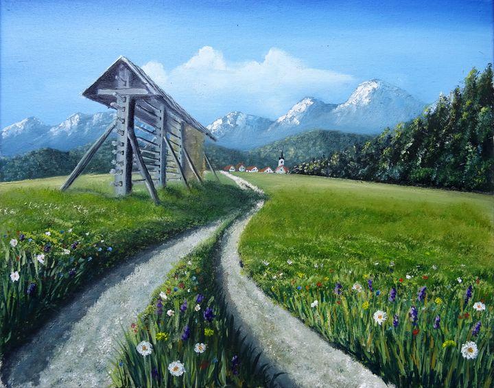 Slovenian view - Marjan Malovrh paintings