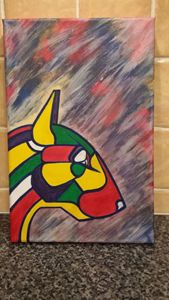 English bull terrier abstract