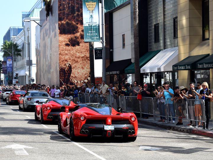 La Ferrari Parade on Rodeo Drive - Steven Kittrell Automotive Imagery
