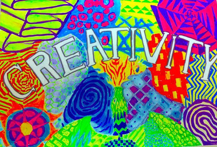 Creativity Zentangle - Bat Cave