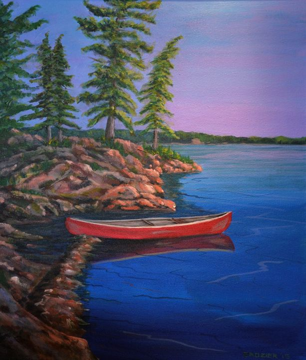 Canoe on the Rocks - Mike Crozier's Art