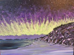 Purple Wintry Sky