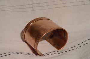 Large Copper Band Bracelet