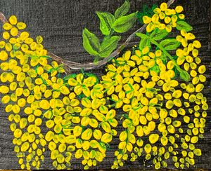 Yellow flower canvas art