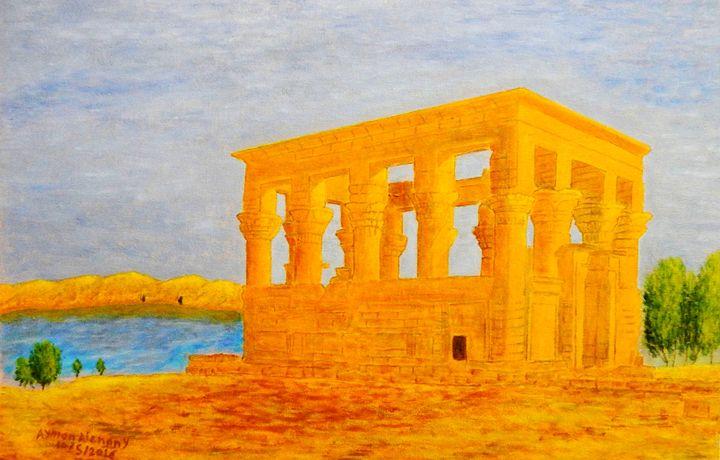 The Kiosk of Trajan, Philae Island, - Alenany