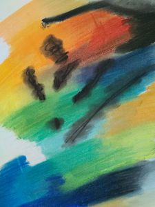 A Stain on the Rainbow Painting