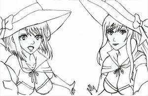 Witch girl anime fanart