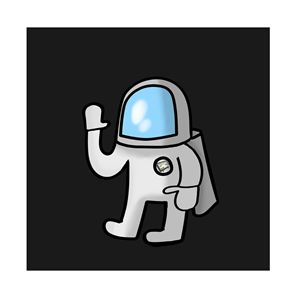 Cute Little Astronaut