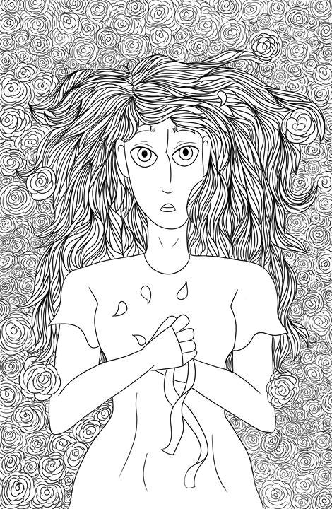 Phadria (Black and White) - Phoebe's Digital Art