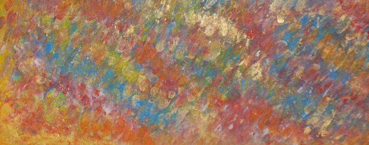 Rainbow - Purple Goat Abstracts