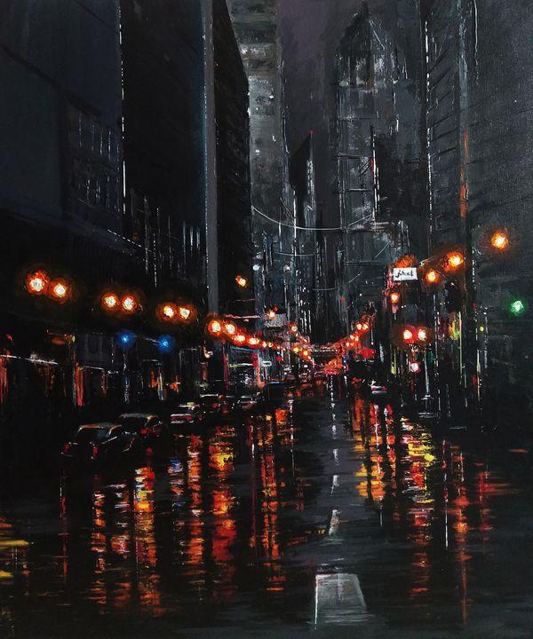 New York - Silence of the street - Satyam Artworks