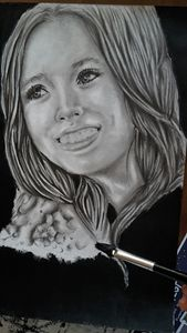 Elizabeth Olsen's portrait