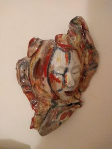 Mask in Clay, Fourth in Series - Works by Frances Opal Forbes