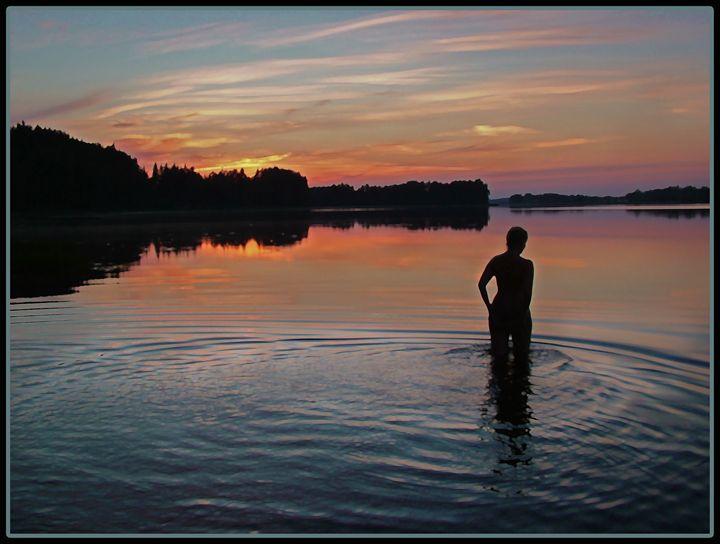 Aphrodite`s sunset swim - Time voyager