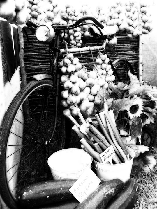 Bike with vegetables - Alan Pitts