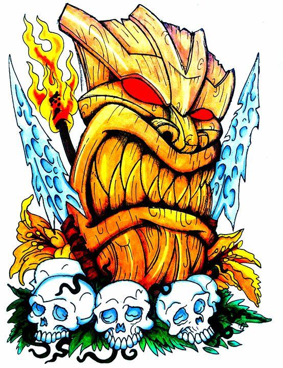 Angry Tiki - Big Bro's Custom Designs
