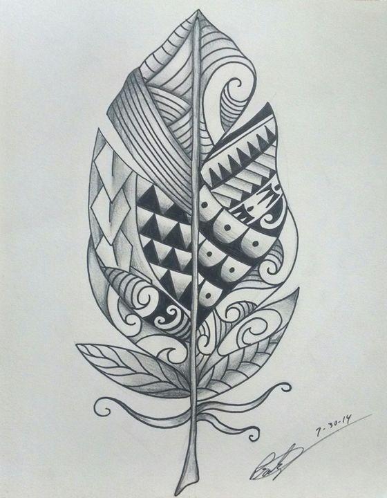 e6cec9467 Polynesian Feather - Big Bro's Custom Designs - Drawings ...