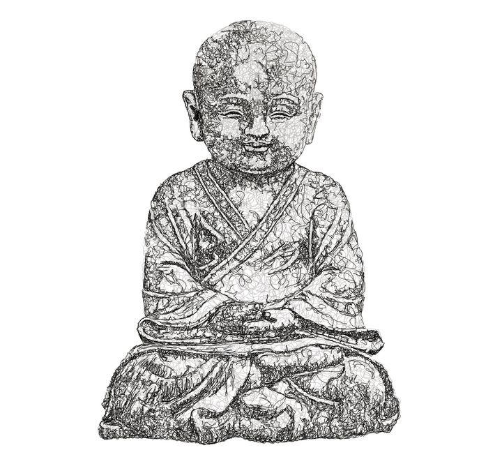 Smiling Buddha - frank scribble 4u