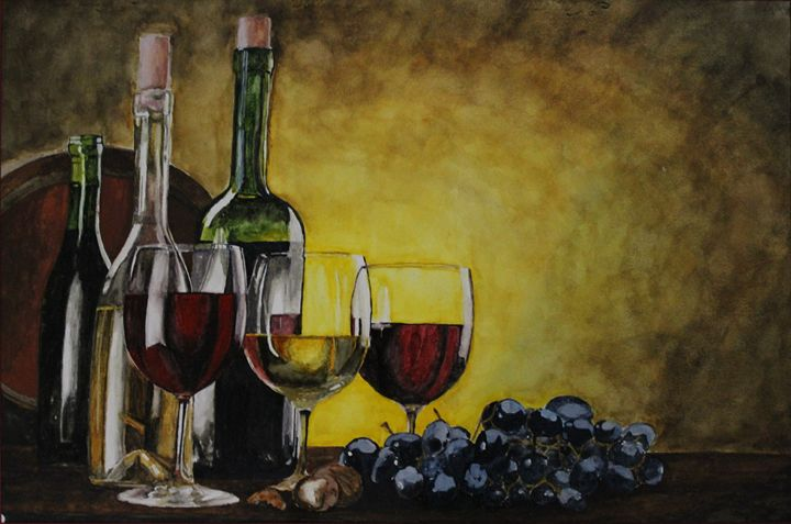 All About Wine - Fatima's Artwork