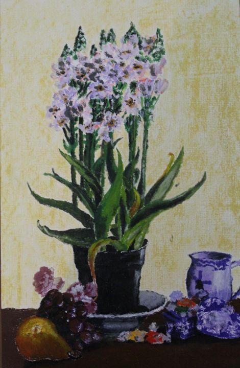 The tea time flower pot - Fatima's Artwork