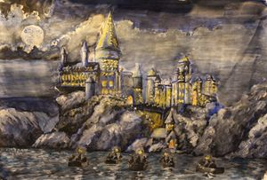 The Hogwarts Castle In A Painting