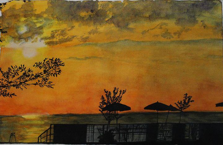 The lazy Sunset - Fatima's Artwork