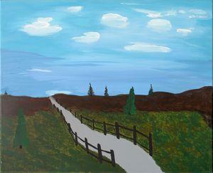 Trail to blue horizon