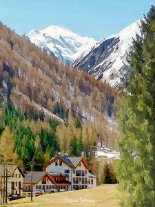 Le Mont Blanc depuis Vallorcine