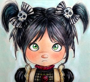 Gothic little girl - portrait