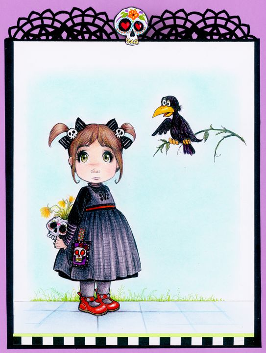 Gothic sweet little girl - Gothic Sweet Art by Pilar  Agrelo