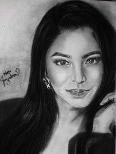 Angel Locsin Charcoal Painting