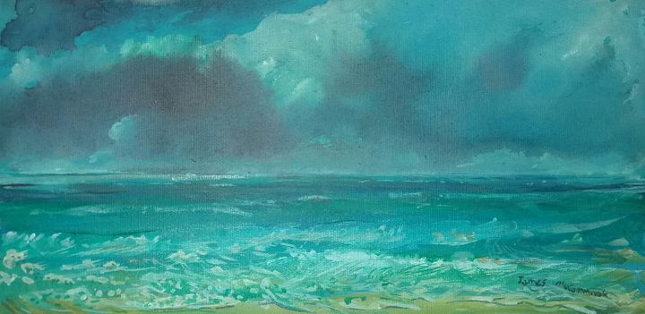 Cloudy Beach, Recife, Brazil - James McCormack Artist