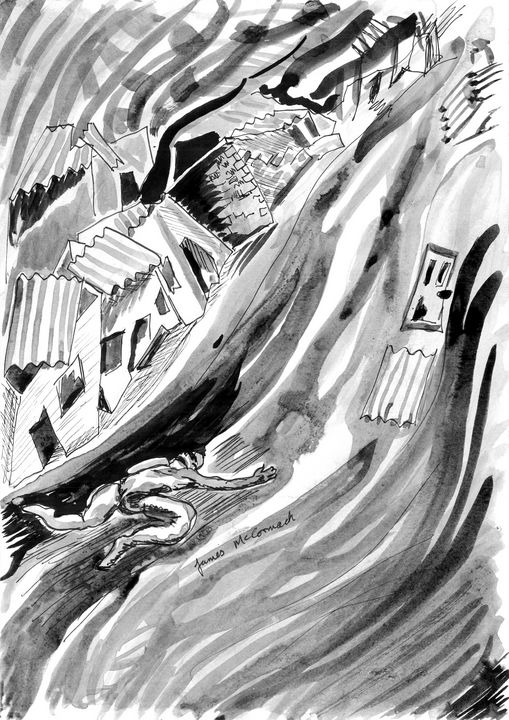 Caught In A Landslide - James McCormack Artist